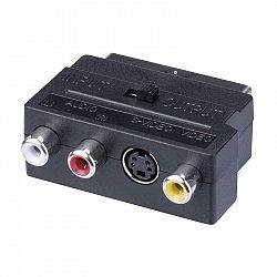 Emos Redukce SCART na 3x CINCH + SVHS adaptér K9304