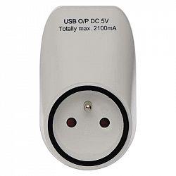 Emos Zásuvka s 2× USB P0071
