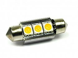 Interlook LED auto žárovka 12V C5W 3SMD5050 CAN BUS 39mm Teplá bílá