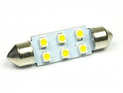 Interlook LED auto žárovka 12V LED C5W 6SMD1210 31mm Teplá bílá
