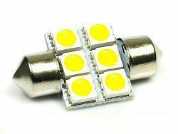 Interlook LED auto žárovka 12V LED C5W 6SMD5050 31mm Teplá bílá