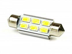 Interlook LED auto žárovka 12V LED C5W 6SMD5630 36mm CAN BUS Teplá bílá