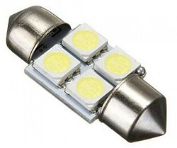 Interlook LED auto žárovka LED C5W 4 SMD 5050 CAN BUS 36mm