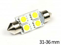 Interlook LED auto žárovka LED C5W 4 SMD 5050 Teplá bílá 31mm