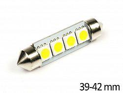 Interlook LED auto žárovka LED C5W 4 SMD 5050 Teplá bílá 39mm