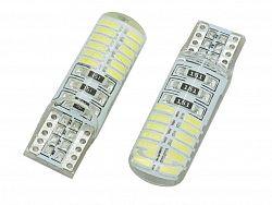 Interlook LED auto žárovka LED W5W T10 24 SMD 4014 Silicon