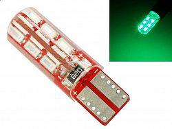Interlook LED auto žárovka T10 W5W 24 SMD 3014 CAN BUS Silikon ZELENÁ