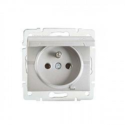 Kanlux 25206 LOGI Zásuvka IP44 - stříbrná
