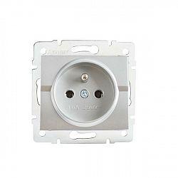 Kanlux 25209 LOGI Zásuvka samostatná - stříbrná