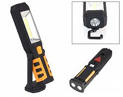 LED21 AG121C LED svítilna plastová pracovní, 3W COB LED + 1x LED, na 3x AAA