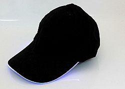 LED21 BQ46 Kšiltovka čepice s LED osvětlením, modré světlo