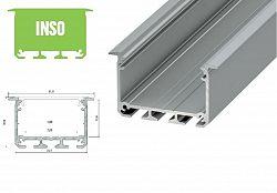 LED21 Hliníkový profil LUMINES INSO 1m pro LED pásky, stříbrný