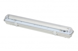 LED21 KOMPLET Prachotěsné svítidlo +1 LED trubice T8 9W 60cm Teplá bílá SM160WW