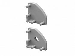 LED21 Krytky koncové pro profil BRG-3, šedé, 1pár