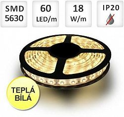 LED21 LED pásek PROFI 60LED/m 5630 18W/m Teplá bílá role 5m