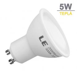 LED21 LED žárovka 5W 9xSMD2835 GU10 440lm Teplá bílá
