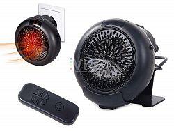 LED21 Teplovzdušný ventilátor, ohřívač, s ovladačem, časovačem 1000W