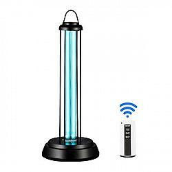 LED21 Ultrafialová germicidní sterilizační lampa UV-C s ovladačem, 60W, černá UV772