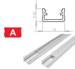 LEDLabs Hliníkový profil LUMINES A 1m pro LED pásky, bílý lakovaný
