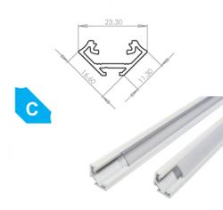 LEDLabs Hliníkový profil LUMINES C 1m pro LED pásky, lakovaný bílý