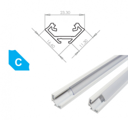 LEDLabs Hliníkový profil LUMINES C 3m pro LED pásky, lakovaný bílý