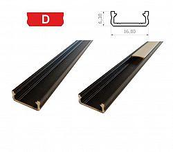 LEDLabs Hliníkový profil LUMINES D 1m pro LED pásky, černý