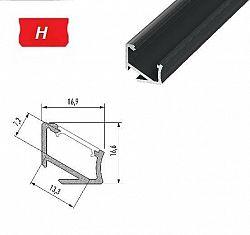 LEDLabs Hliníkový profil LUMINES H 2m pro LED pásky, černý