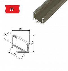 LEDLabs Hliníkový profil LUMINES H 2m pro LED pásky, hliník