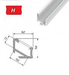 LEDLabs Hliníkový profil LUMINES H 2m pro LED pásky, lakovaný bílý