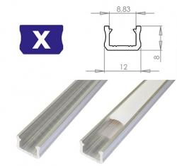 LEDLabs Hliníkový profil LUMINES X 1m pro LED pásky, hliník