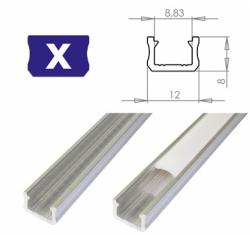 LEDLabs Hliníkový profil LUMINES X 2m pro LED pásky, hliník