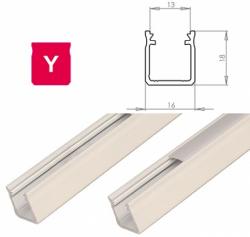 LEDLabs Hliníkový profil LUMINES Y 1m pro LED pásky, bílý lakovaný