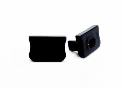 LEDLabs Krytka koncová s otvorem pro profil LUMINES X, černá