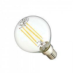 Ledlumen LED žárovka 4W Globe 4xCOS Filament E14 470lm CCD TEPLÁ BÍLÁ