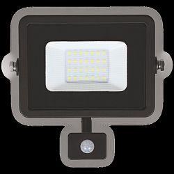 LUMAX LED reflektor 20W PLATI PIR 1400lm SLIM Teplá bílá LFL104S