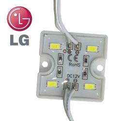 PREMIUMLUX LED Modul LG 4xSMD 5730 1,28W 80lm 12V TEPLÁ BÍLÁ