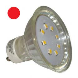 PREMIUMLUX LED žárovka 1W 20xSMD2835 GU10 90lm ČERVENÁ
