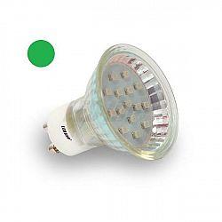 PREMIUMLUX LED žárovka 1W 8xSMD2835 GU10 80lm ZELENÁ
