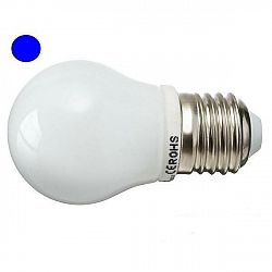PREMIUMLUX LED žárovka 2,5W 8xSMD2835 E27 200lm MODRÁ