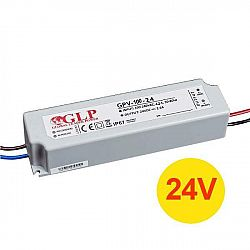PREMIUMLUX Napájecí zdroj 100W 4A 24V DC, voděodolný / venkovní, Global Leader Power LUX00951