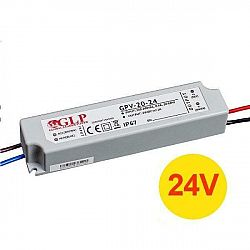 PREMIUMLUX Napájecí zdroj 24W 1A 24V DC, voděodolný / venkovní, Global Leader Power LUX00837