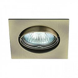 PREMIUMLUX Podhledové bodové svítidlo DELTA-R ALU mosaz + patice, LUX01237