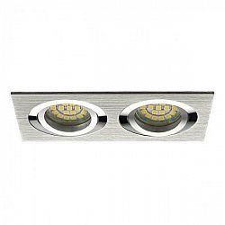 PREMIUMLUX Podhledové bodové svítidlo JOTA K/2 stříbrná + patice, LUX01244
