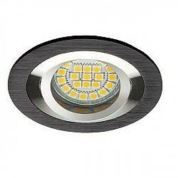 PREMIUMLUX Podhledové bodové svítidlo OPAL ALU černá + patice, LUX01289