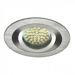 PREMIUMLUX Podhledové bodové svítidlo OPAL stříbrná + patice, LUX01288